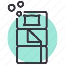 bag, bed, camping, outdoor, pillow, sleep, sleeping icon