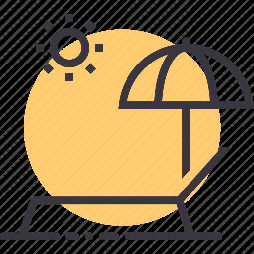 bath, beach, relax, sea, sun, umbrella, vacation icon