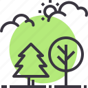 ecology, forest, nature, outdoors, park, trees, wood icon