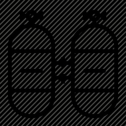 cylinder, nautical, oxygen, sea, swim, task, water icon