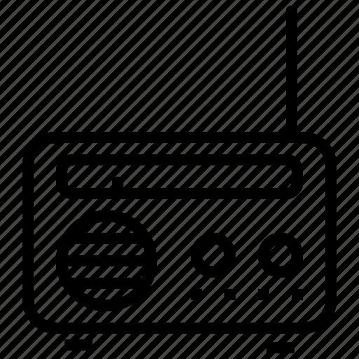 appliance, communication, device, entertainment, listen, radio, signal icon