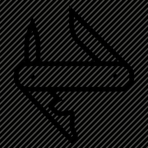 army, camping, knife, multi, pocketknife, swiss, tool icon