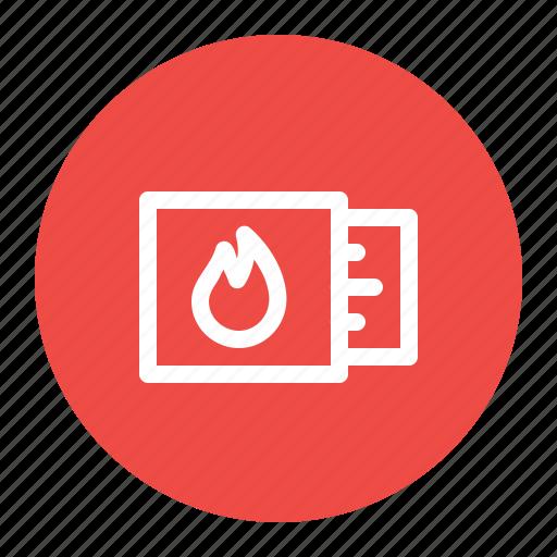 box, burn, fire, flame, matchbox, matches, stick icon