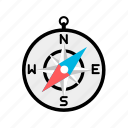 compass, direction, find, search, way icon