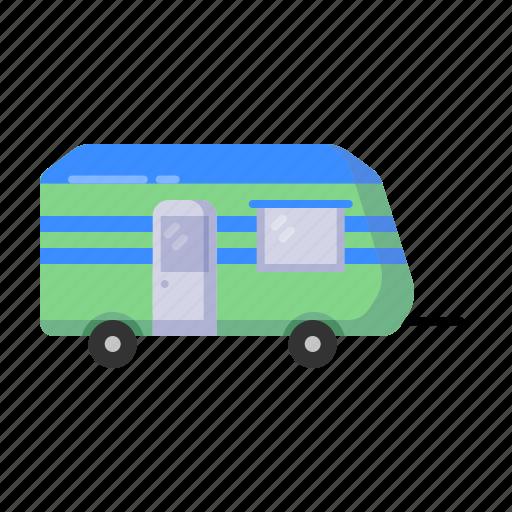 car, hand, home, travel, trolley, truck, van icon