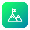 climb, forest, ice, mountain, nature, side, view icon