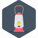 energy, fuel, lamp, lantern, light, night, power icon