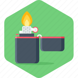 burn, fire, flame, idea, light, lighter, zippo icon