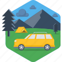 activity, camp, camping, car, outdoor, tent, van icon