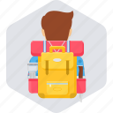 adventure, backpack, baggage, camp, camping, outdoor icon