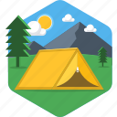 camp, cloud, sky, adventure, camping, house, tent icon