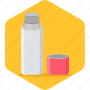bottle, cool, drink, kids, school, water icon