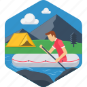 boat, boating, outdoor, rafting, adventure, camping, river