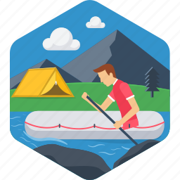 adventure, boat, boating, camping, outdoor, rafting, river icon