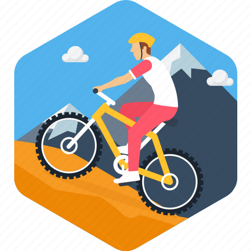 adventure, bicycle, cycle, cycling, exercise, mountain climbing, sports icon