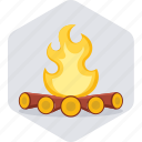 bonfire, camp, campfire, camping, fire, outdoor, outdoors icon