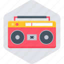 instrument, music, musical, player, radio, tape recorder icon