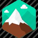 hill, mountain, cloud, landscape, mountains, nature