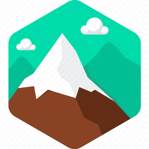 cloud, hill, landscape, mountain, mountains, nature icon