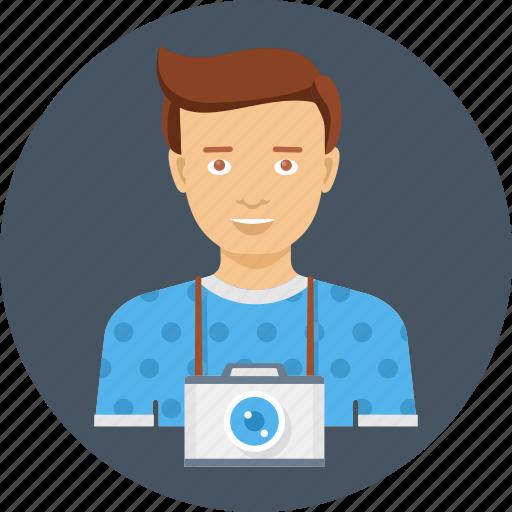 avatar, camera, cameraman, image, photograph, photographer, photography icon