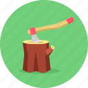 axe, building, cut, cutting, sport, sports, wood icon