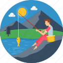 adventure, camp, camping, catch, fish, fishing, trap icon