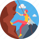 adventure, camping, climb, climbing, hill, mountain, sports icon