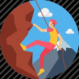 adventure, camping, climb, climbing, hill, mountain, sports icon