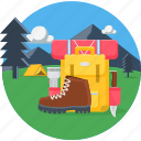 camp, camping, holiday, luggage, picnic, travel, vacation icon