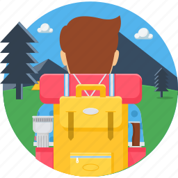 backpack, bag, baggage, luggage, suitcase, travel, vacation icon
