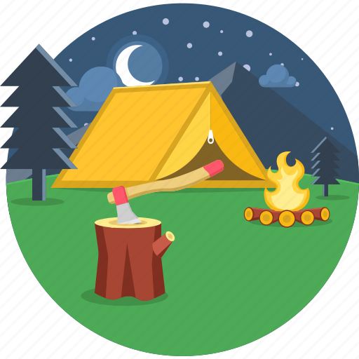 adventure, camp, camping, picnic, spot, tent, vacation icon