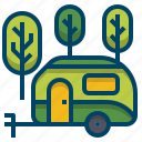 camper, camping, caravan, journey, trailer, travel, van icon