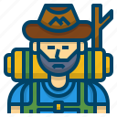 adventure, backpacker, hike, hiker, hiking, journey, trekking icon