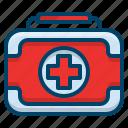 box, emergency, first aid kit, health, healthcare, medical, medicine icon