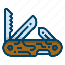 blade, equipment, handle, knife, penknife, pocketknife, weapon icon
