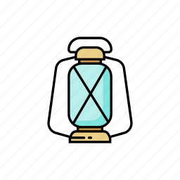 camp, lamp, lantern, light, night, oil icon