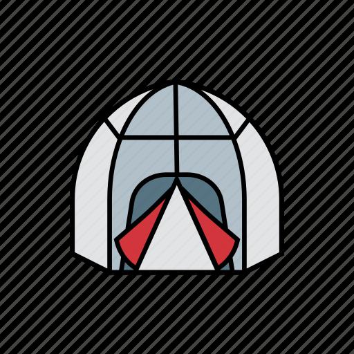 adventure, bag, camp, night, sleeping, tent, travel icon