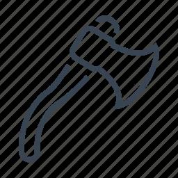 ax, axe, hatchet, tool icon