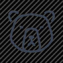 animal, bear, grizzly, wildlife icon