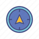 arrow, compass, direction, guide, travel icon