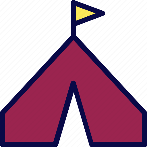 camp, campfire, camping, scout, tent icon