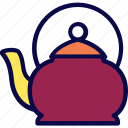 camping, drink, hot, kitchen, scout, teapot icon
