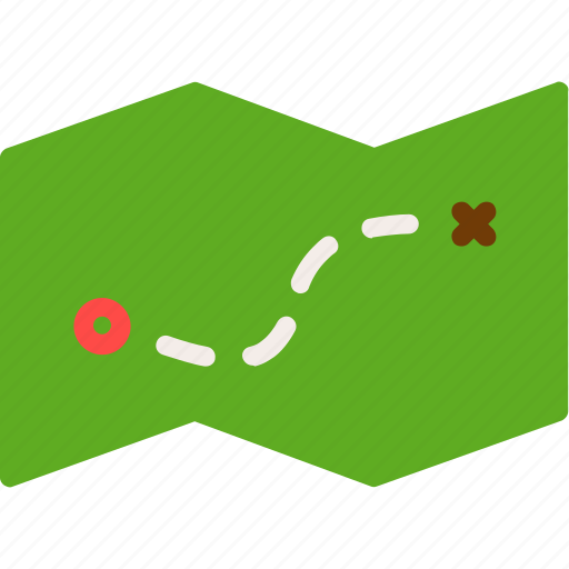 camping, journey, location, map, scout icon
