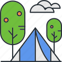 camping, outdoor, summer, tent, vacation icon