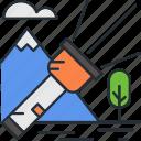 camping, flash, flashlight, light icon