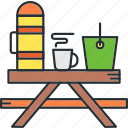 camping, cooking, food icon
