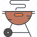 bbq, camping, travel icon
