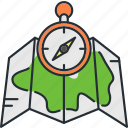 camping, direction, location, navigation icon