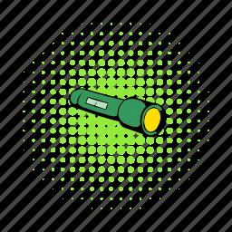 bulb, comics, energy, flashlight, lamp, lite, tool icon