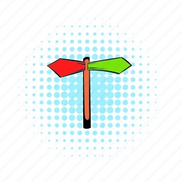 arrow, blank, comics, direction, information, road, way icon